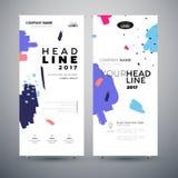 Företags baner - uppsättning av moderna illustrationer för vektormallabstrakt begrepp stock illustrationer