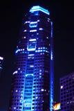 företags blå byggnad arkivbild