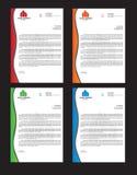 Företags brevhuvudidentitet stock illustrationer