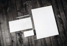 Företags brevpappermall Arkivfoton