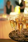företags deltagare för champagne Royaltyfri Bild