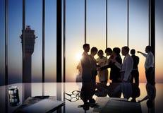 Företags diskussion för affärsfolk som möter Team Concept Arkivbild