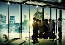 Företags diskussion för affärsfolk som möter Team Concept Royaltyfria Foton