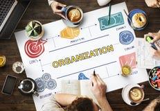Företags förpliktelse Team Concept för organisationsgrupp fotografering för bildbyråer