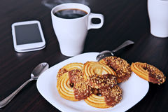 Företags frukost Arkivfoton