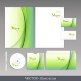Företags identitetsmall. vektor illustrationer