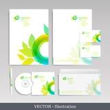 Företags identitetsmall. stock illustrationer