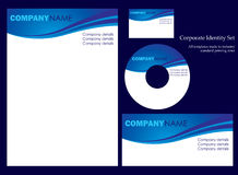 företags identitetsmall Arkivbilder