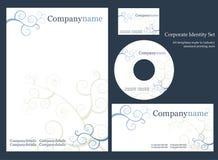 företags identitetsmall Arkivfoton