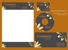 företags identitetsmall Arkivbild