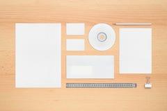 företags identitetsmall Arkivfoto