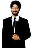 Företags indisk grabb över vit royaltyfri bild