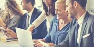 Företags ledning för affär som planerar Team Concept arkivbild