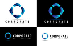 företags logo Royaltyfria Bilder