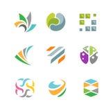 Företags Logo Set för affär beståndsdel Royaltyfria Bilder