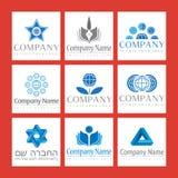 företags logoer stock illustrationer