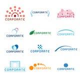 företags logoer Arkivbilder