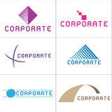 företags logoer Royaltyfria Foton