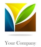 företags logofyrkant Royaltyfri Foto