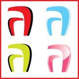 företags logovektor royaltyfria bilder