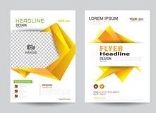Företags mall för orientering för broschyrreklambladdesign i formatet A4 Royaltyfri Foto