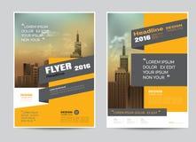 Företags mall för orientering för broschyrreklambladdesign i formatet A4 Royaltyfria Bilder