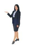 företags presentationskvinna Arkivfoton