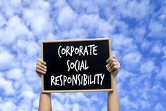 Företags socialt ansvar royaltyfri fotografi