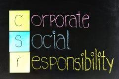 Företags socialt ansvar (CSR) Royaltyfri Foto