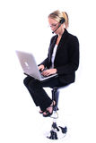 företags spoksewoman kvinna för affär Royaltyfria Foton