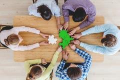 Företags teamworkbegrepp Arkivfoton