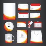 Företags uppsättning för mall för märkesidentitet royaltyfri illustrationer