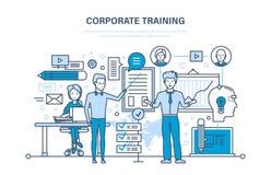 Företags utbildning, utbildning som lär Undervisning på kurs Konferens presentation stock illustrationer