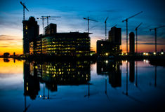 företags utveckling för byggnadskonstruktion Arkivfoto