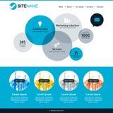 Företags Websitemall Modern plan rengöringsdukdesign Vektorcircl Royaltyfri Foto