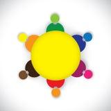 Företagsanställd- eller stabsmedlemtogther som en te vektor illustrationer