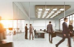 Företagsanställda på deras arbetsplats vektor illustrationer