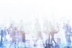 Företagsbakgrund för företags affär, abstrakt folkmassa av folk Royaltyfria Bilder