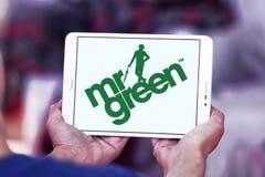 Företagslogo för herr Green Arkivbild