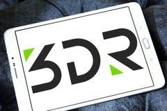 företagslogo för robotteknik 3D Arkivbild