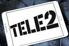 Företagslogo för Tele2 AB Royaltyfria Foton