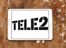 Företagslogo för Tele2 AB Royaltyfri Bild