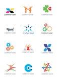 företagslogosymboler stock illustrationer