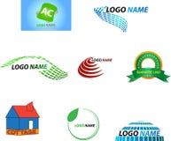 Företagsnamn stock illustrationer