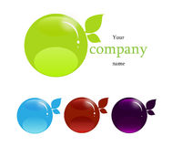 Företagsnamn, bio symbol Royaltyfri Bild