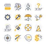 Företagsstödsymboler vektor illustrationer