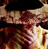 förfärad kvinna Royaltyfri Fotografi