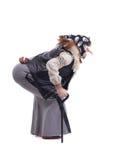 Förfärlig Baba Yaga i gammal kläder Royaltyfri Foto