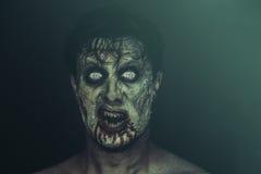 förfärlig zombie Arkivfoto