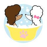 Förfölja badningen vektor illustrationer
